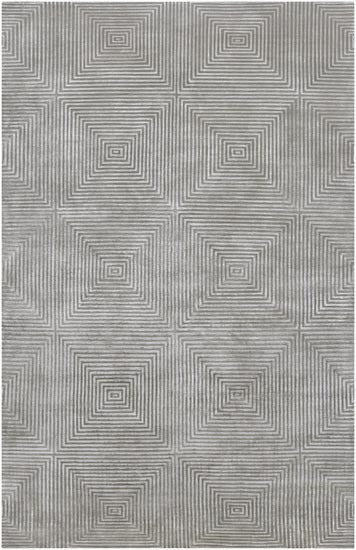 Candice Olson Design Luminous Hand Knotted Wool Rugs - Gray, Light Gray