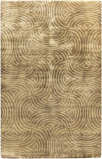 Candice Olson Design Luminous Hand Knotted Wool Rugs - Beige and Chocolate