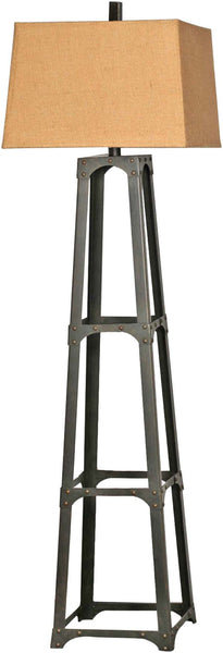Empire Rectangle Bronze Floor Lamp