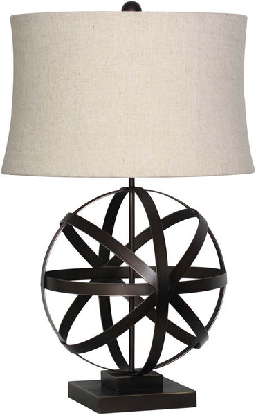 Retro Drum Bronze Table Lamp