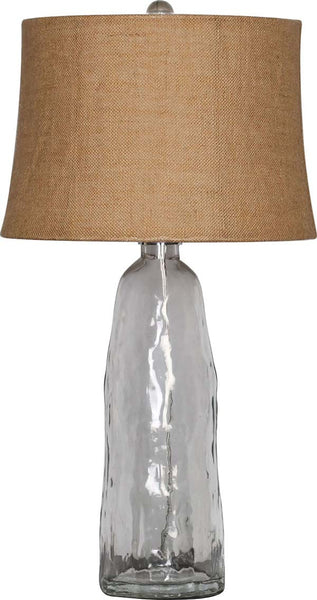 Retro Drum Clear Glass Table Lamp