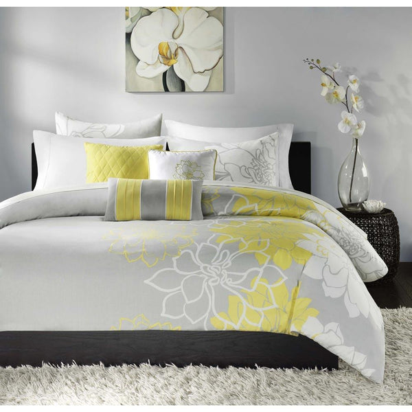 Lola Cotton Jacquard Printed 6 Pieces Set - Bedding | Madison Park