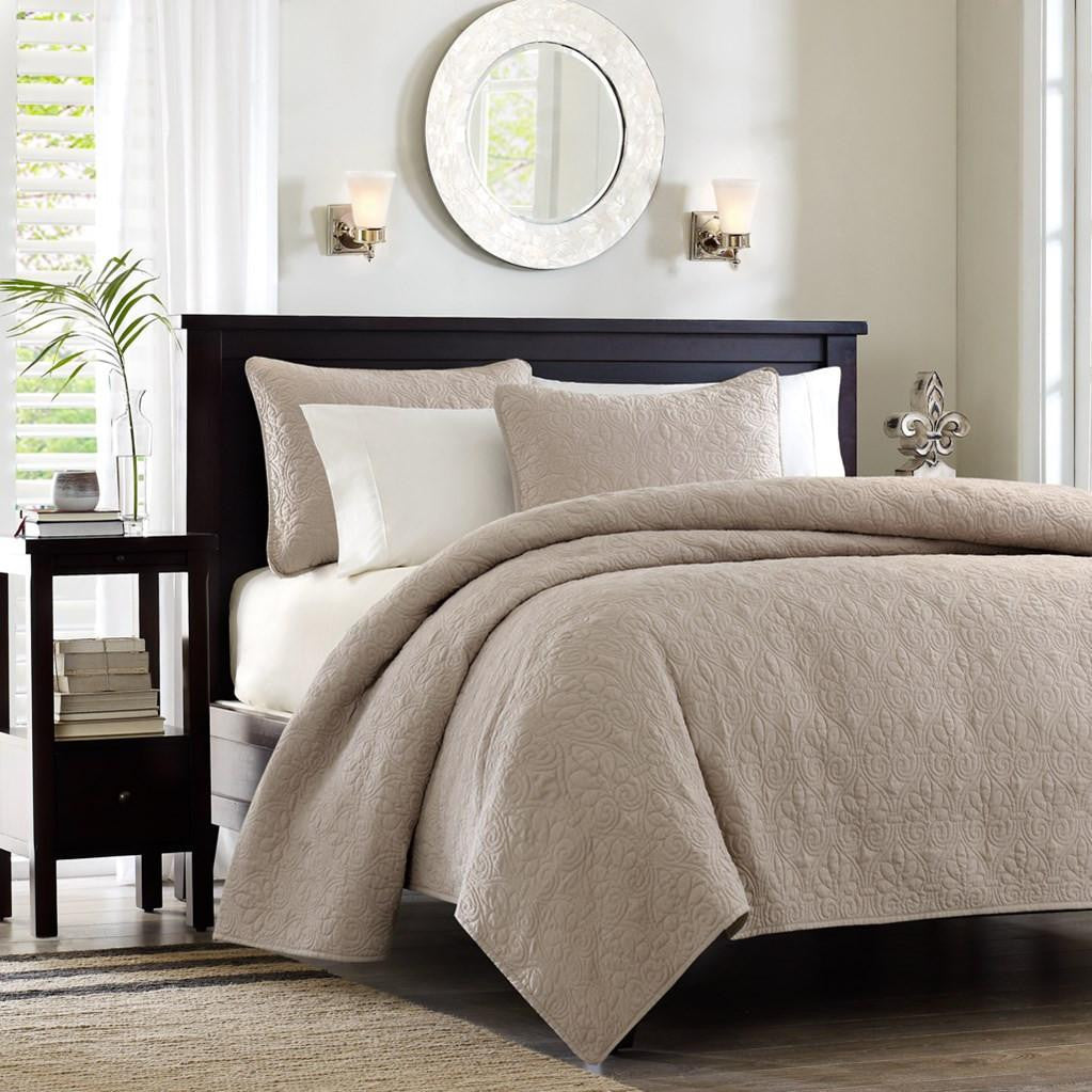 Quebec Polyester Microfiber Quilted Coverlet Mini Set - Bedding | Madison Park