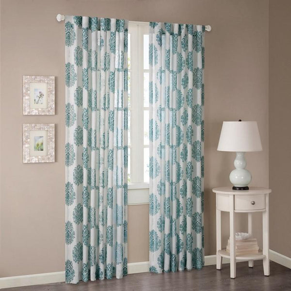Madison Park Addison Sheer Window Panel, Blue
