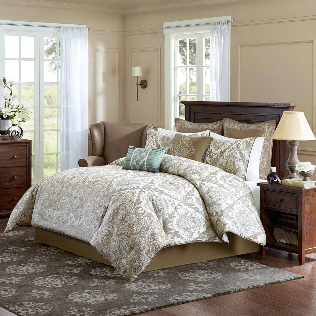 Signature Pierce Polyester Jacquard 8 Pieces Comforter Set - Bedding | Madison Park