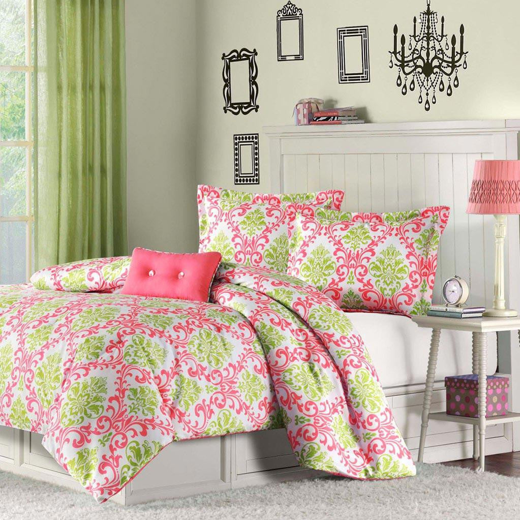 Katelyn Polyester Peach Skin Printed Comforter Mini Set - Bedding | Mi Zone