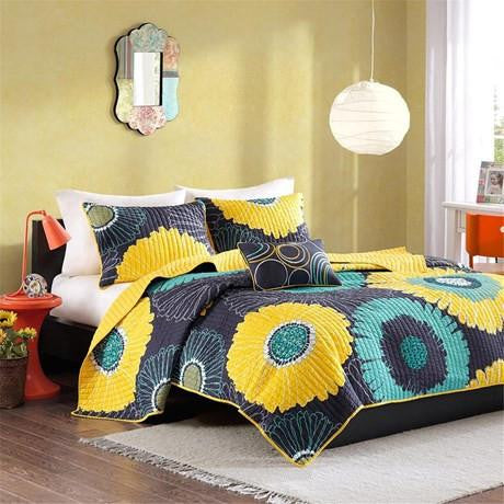 Alice Polyester Microfiber Printed Quilt Set - Bedding | Mi Zone