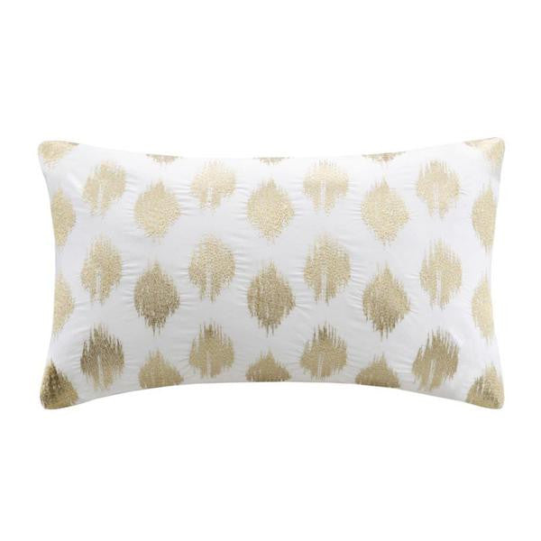 Nadia Dot Cotton Decorative Pillow Gold