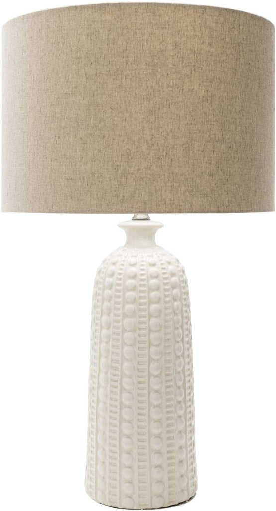 Cylinder  Glazed Newell Table Lamp