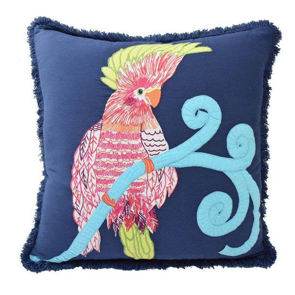Pajaro Decorative Pillow, Navy