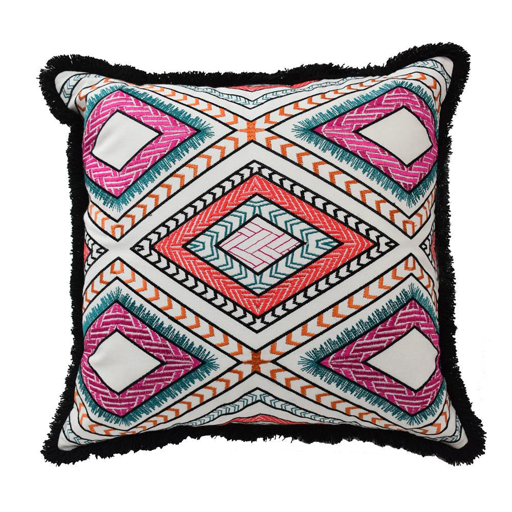 Poncho Decorative Pillow, White