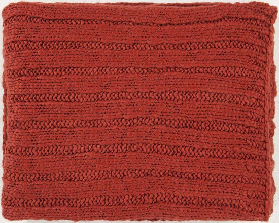 Surya Timothy 50 by 60 inches Knitted Acrylic Throw, Burgundy