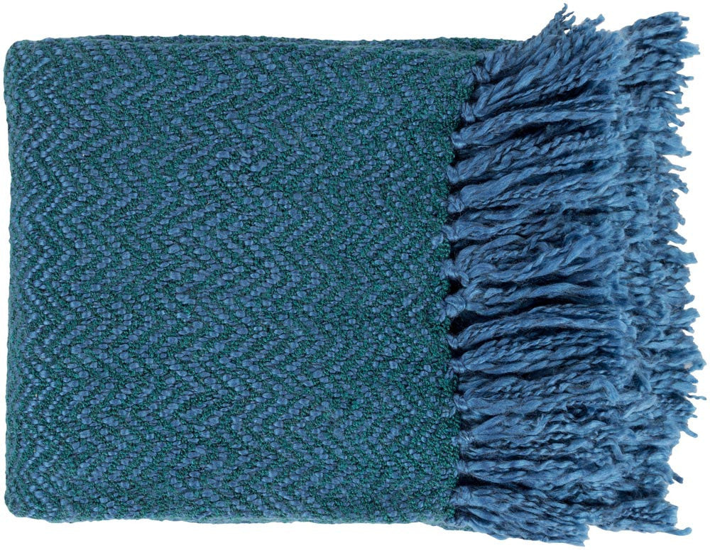 Surya Trina 50 by 60 inches Woven Acrylic, Polyester Throw, Teal