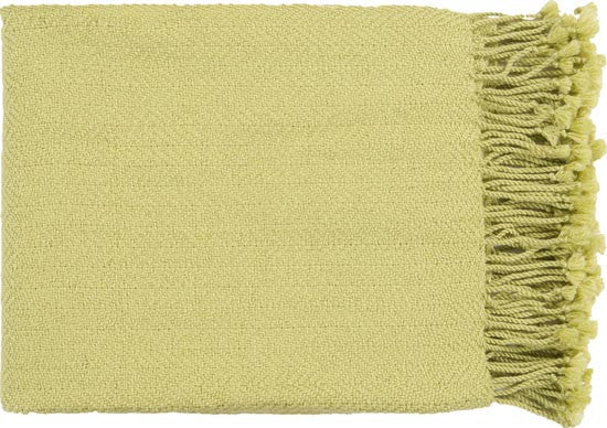 Surya Turner 50 by 60 inches Woven Acrylic Throw, Lime