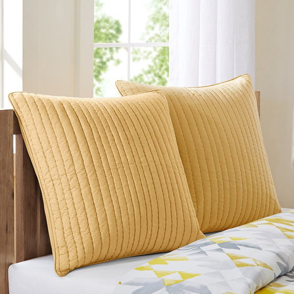Camila Cotton Quilted Euro Sham - Bedding | Ink Ivy