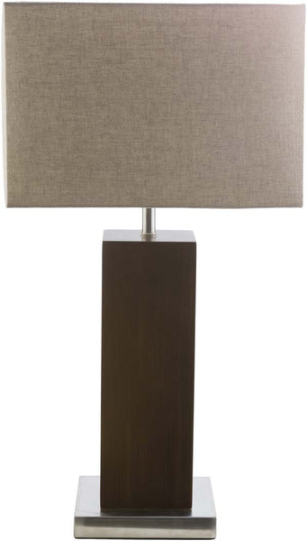 Retro Square Brushed nickle York Table Lamp