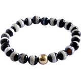 black + white striped agate bracelet