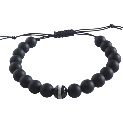 unisex adjustable onyx bracelet