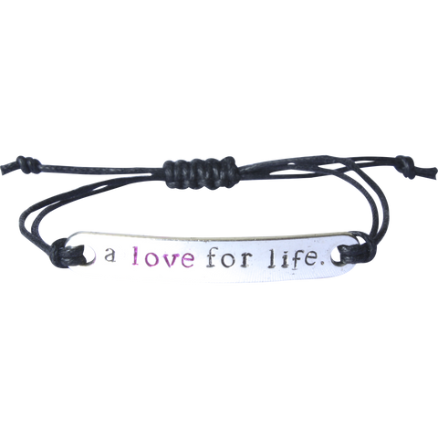 A Love for Life Unisex Stamped Bracelet