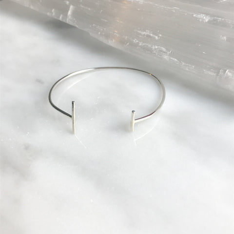 Adjustable sterling silver cuff bracelet