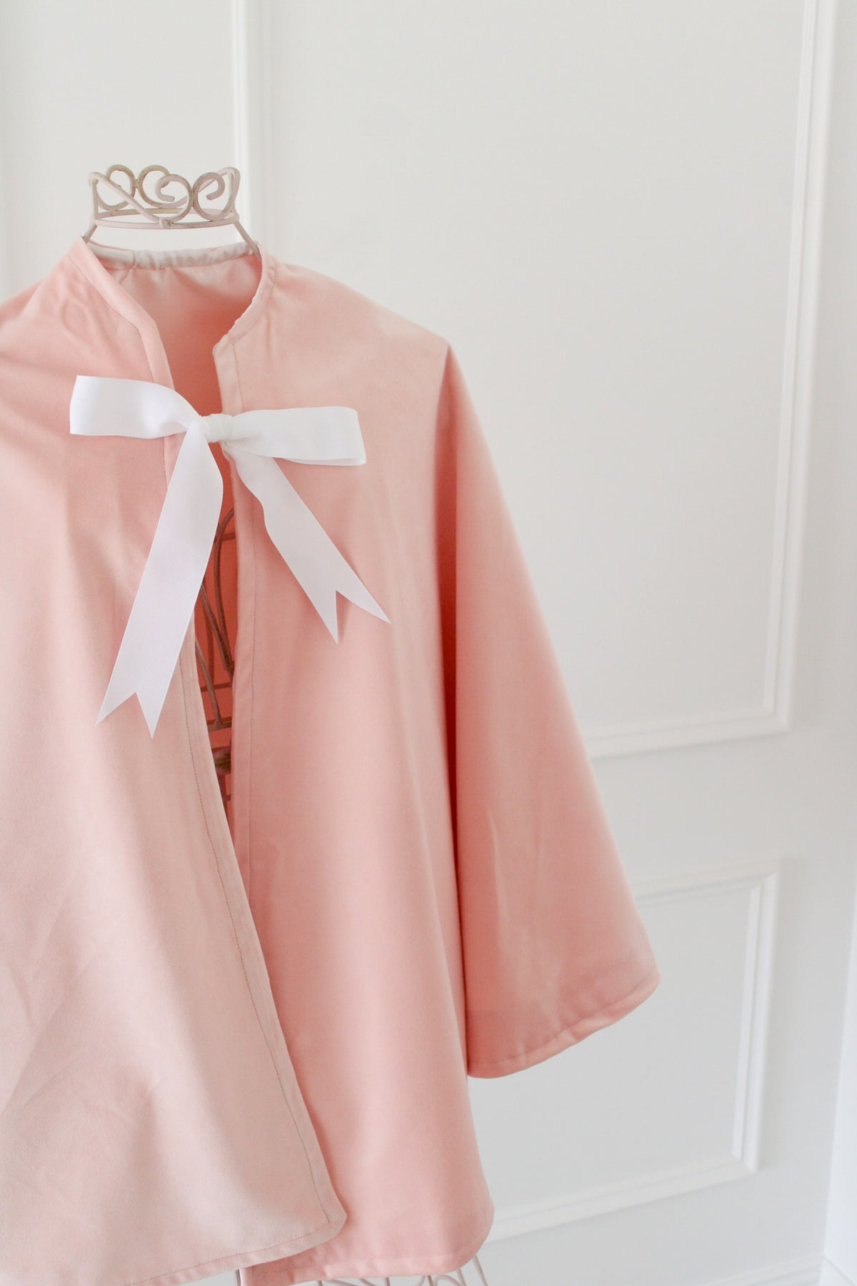 *Sample Sale* Peach Velvet Cape