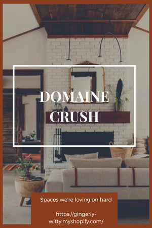 Home Decor: Domaine Crush; Gingerly WItty; California ranch home';