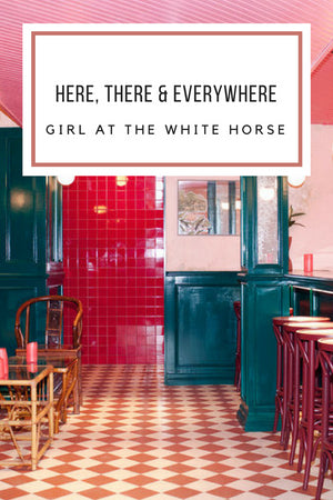 pink painted walls, Gingerly Witty Girl at the White Horse bar Los Angeles East Hollywood