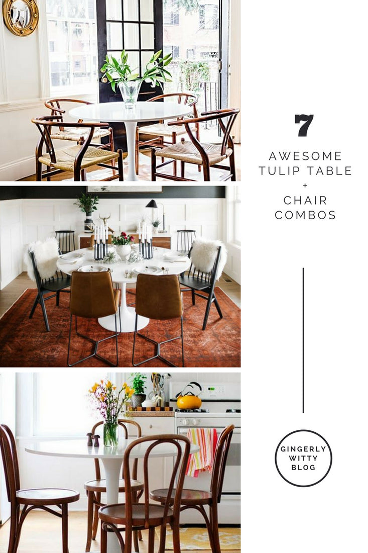 Collection name  sc 1 st  Gingerly Witty - Shopify & Home Decor: Just Add Chairs - 7 Awesome Tulip Table + Chair Combos ...