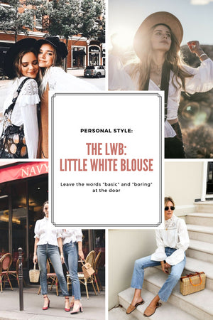 Personal Style: The LWB (Little White Blouse); Gingerly Witty