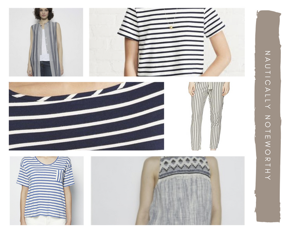 Gingerly Witty Nautically Inspired stripes nautical