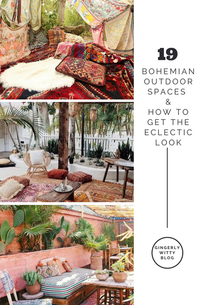 Gingerly Witty bohemian outdoor spaces