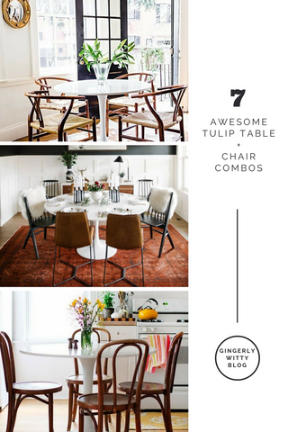 Home Decor Just Add Chairs 7 Awesome Tulip Table Chair Combos