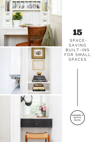 Gingerly Witty Home Decor: Space-Saving Built-Ins for Small Spaces