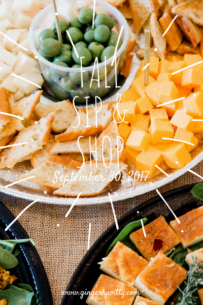 Gingerly Witty fall Sip & Shop party