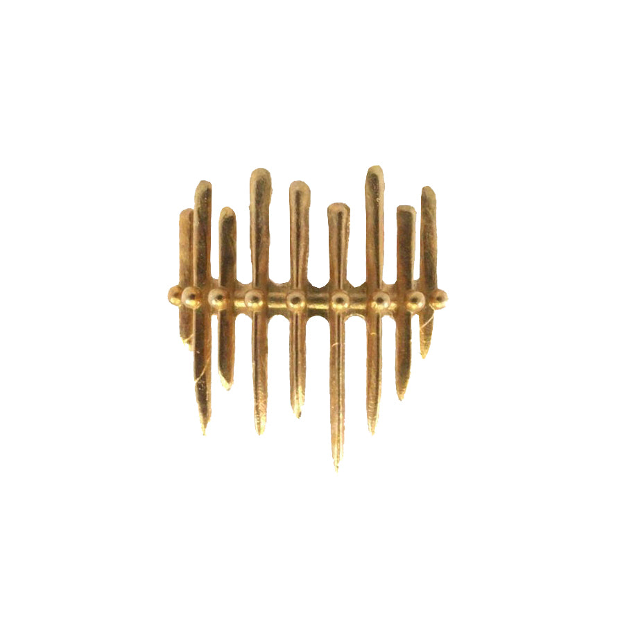 *PRE-ORDER* Fence Ring - Brass, Less is More - Gingerly Witty