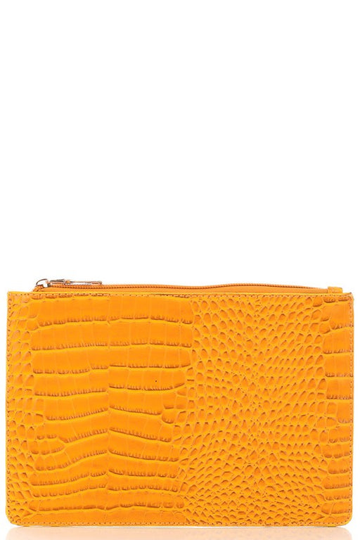 *PRE-ORDER* Snake Print Cosmetic Bag - Mustard, Fame Accessories - Gingerly Witty