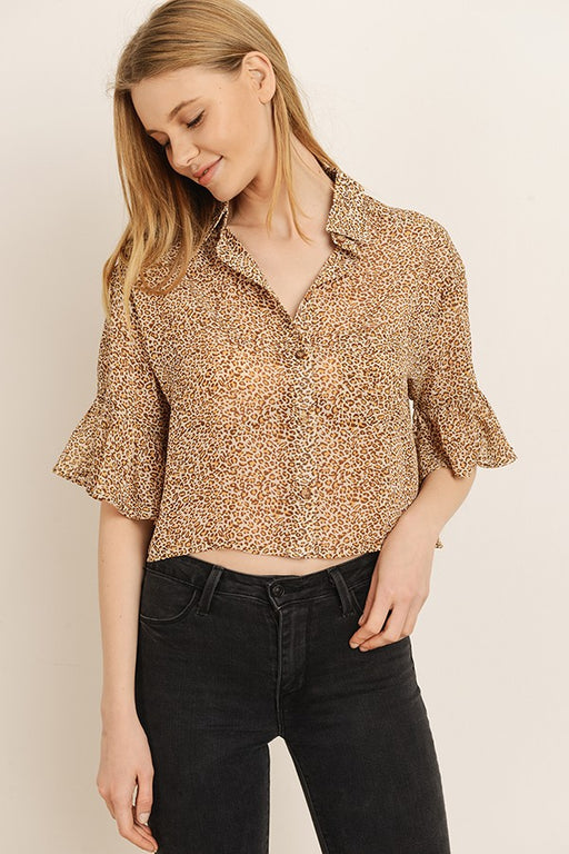 *PRE-ORDER* On the Wild Side Blouse, Storia - Gingerly Witty