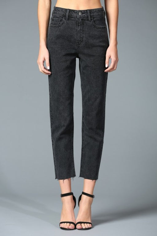 Claudine High Rise Straight Jean - Black Wash, Disclosed Denim - Gingerly Witty