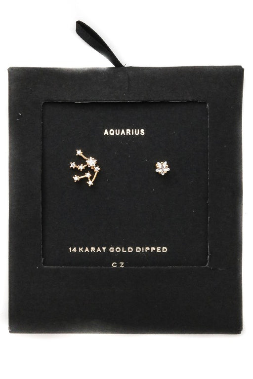 *PRE-ORDER* Zodiac Stud Earrings - Cubic Zirconia, Anarchy Street - Gingerly Witty