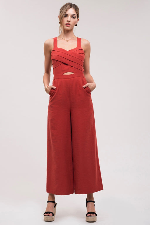 *PRE-ORDER* At The Heart Of It All Jumpsuit - Rust, j.o.a. - Gingerly Witty
