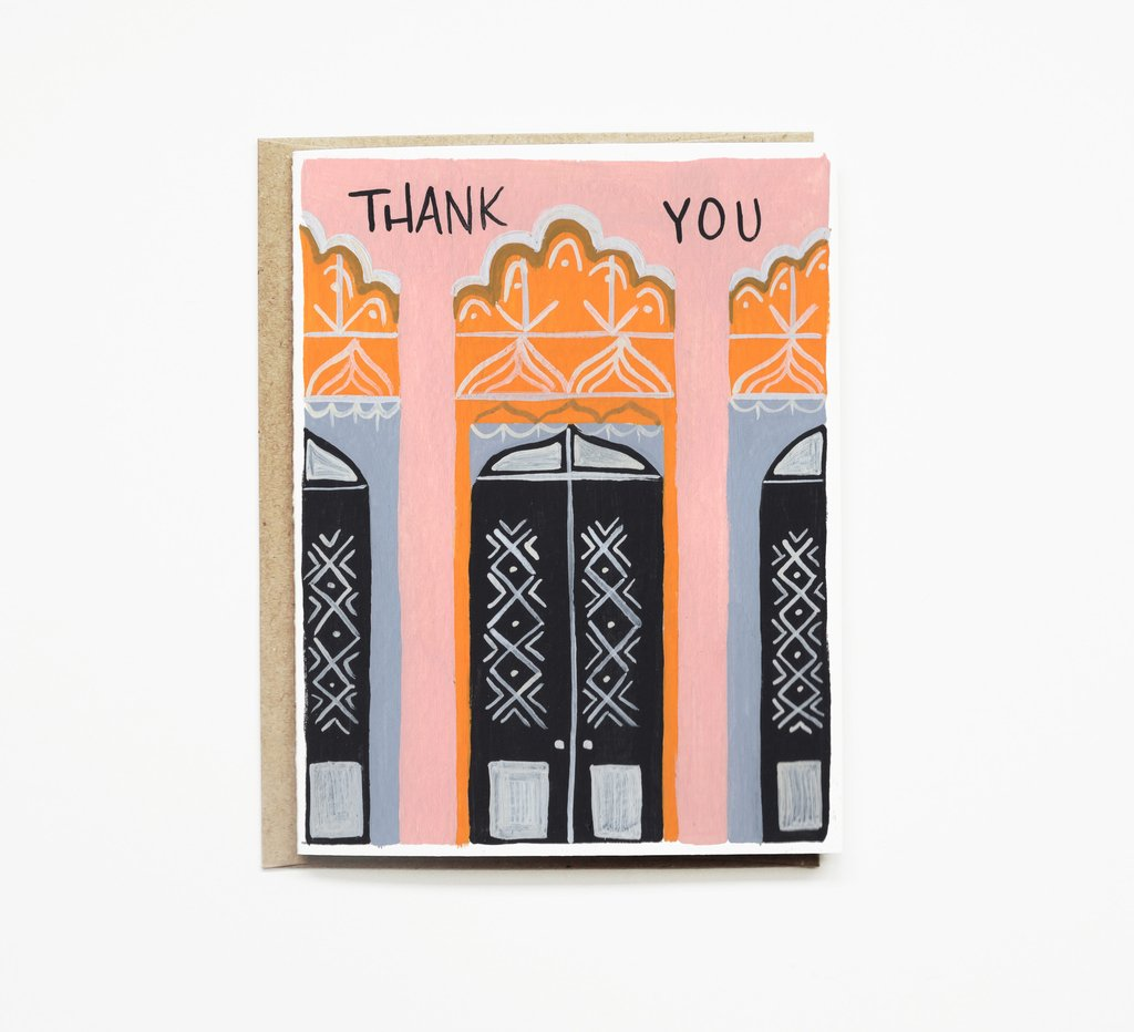 Grand Budapest Hotel Thank You Card Gingerly Witty