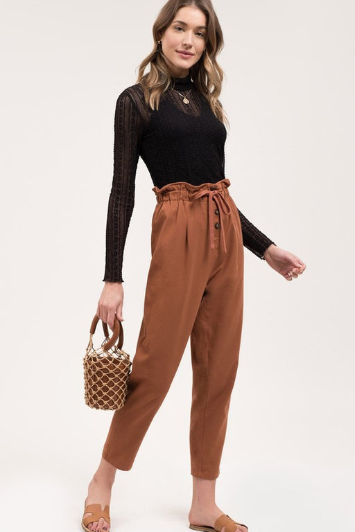 Road to Hana Paperbag Pants - Cinnamon; Gingerly Witty