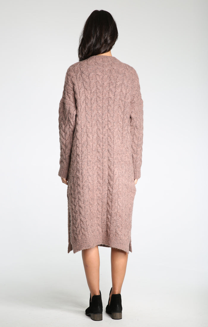 Whitney Chunky Sweater Coat - Mocha, Raga, Gingerly Witty