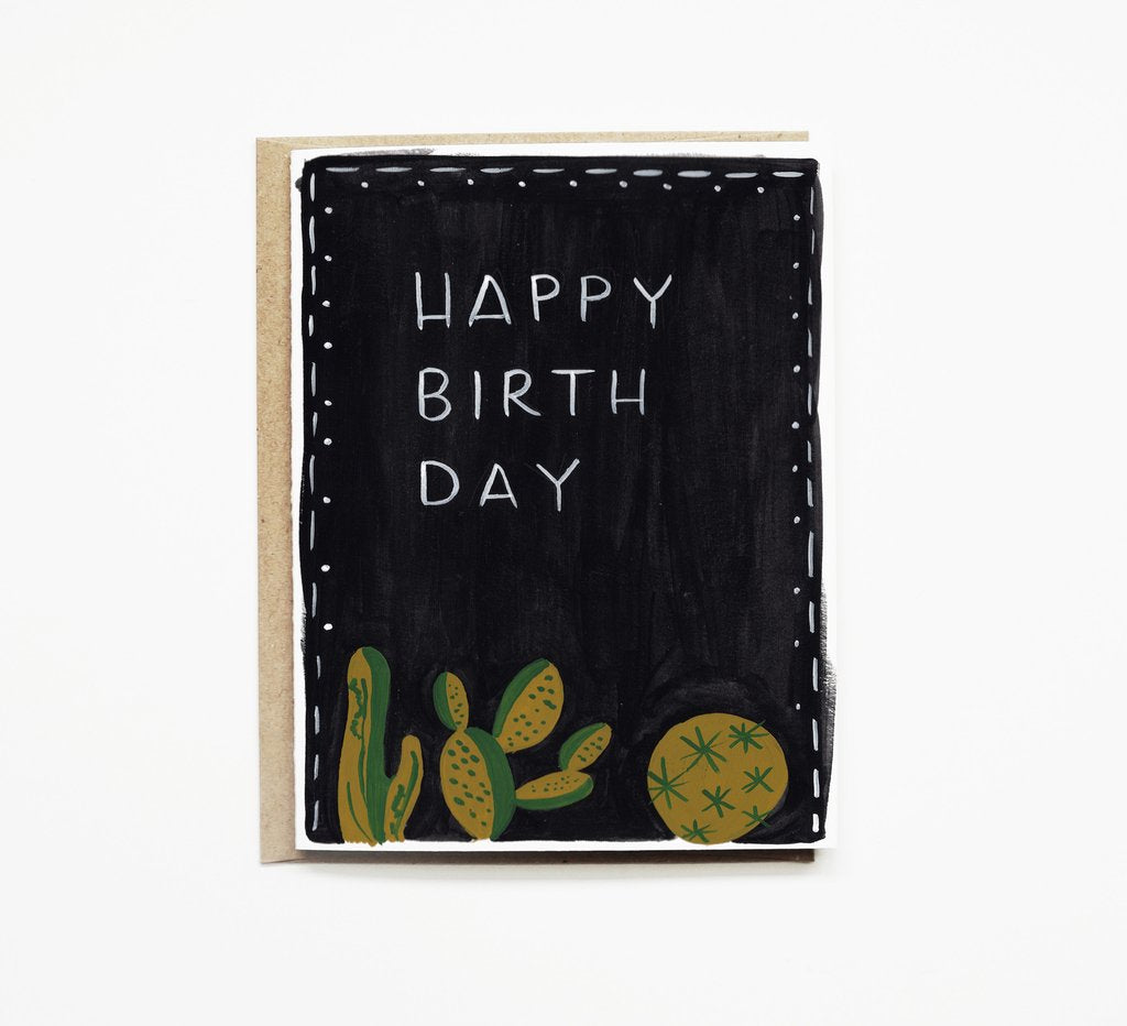 Succulent Night Birthday Card Gingerly Witty