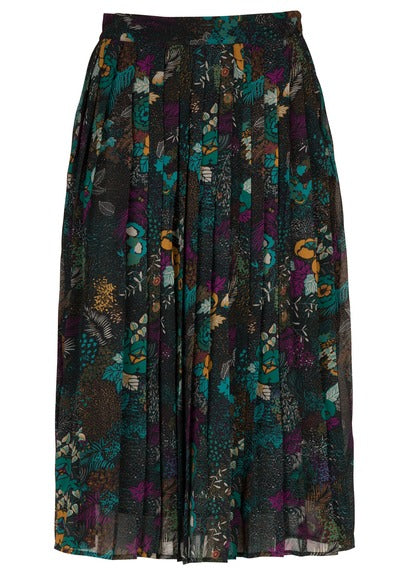 9e2cd68245 Pairs easy with DESCRIPTION Midi-length skirt in pretty green floral  printed pleated fabric.