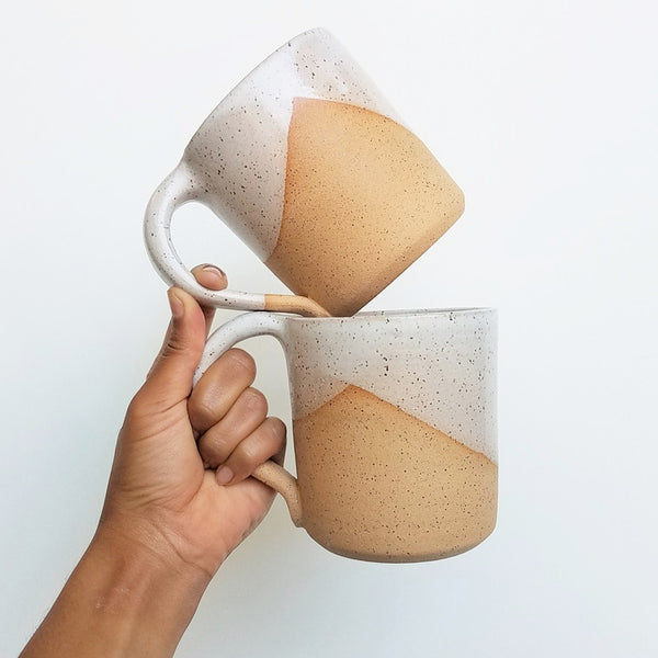 Speckled Ceramic Mug with Handle, Gopi Shah Ceramics - Gingerly Witty