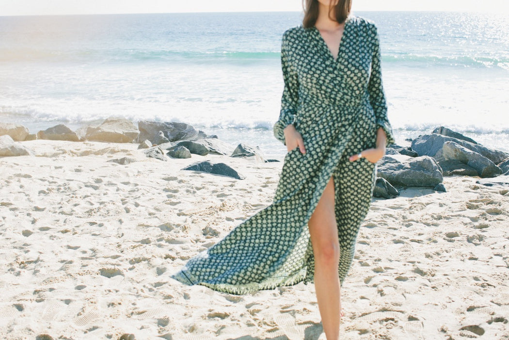 Nico Long Sleeve Maxi Dress, Natalie Martin - Gingerly Witty