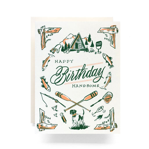 Outdoorsman Birthday Greeting Card; Antiquaria; Gingerly Witty