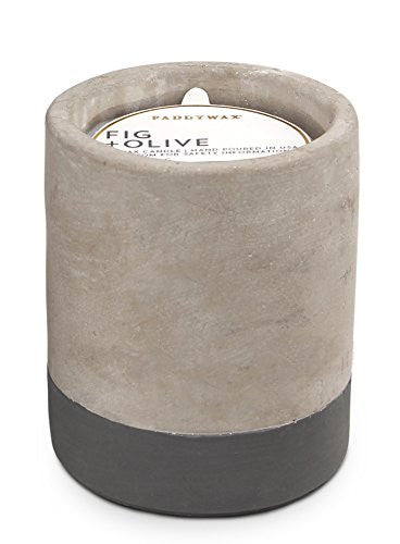 Fig & Olive Concrete Candle - 3.5oz, Paddywax - Gingerly Witty