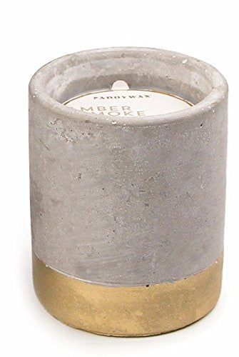 Amber & Smoke Concrete Candle - 3.5oz, Paddywax - Gingerly Witty